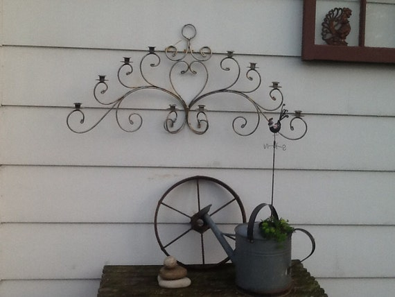 Large Metal Candle Holder Fireplace Candle Holder By Redbarngarden