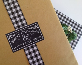 Chalkboard Style Christmas Label