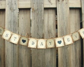 Best Day Ever Wedding Banner Photo Prop Vintage Rustic Garland Decoration