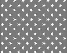 Vinyl wallpaper. Self-adhesive -dark grey with white stars (IDO)