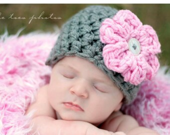 INSTANT DOWNLOAD PATTERN Flower Hat Newborn Photography (Permission to Sell Finished Product)