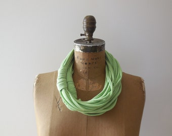 Scarf Necklace Recycled T-Shirt Necklace Scarf Necklace Fashion Necklace Cotton Necklace Statement Necklace Summer ohzie