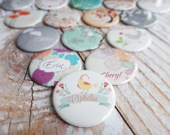 Set of 6 Pocket Mirrors Personalized For You Great Bridesmaids Gifts- Choose Your Designs