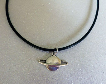 Saturn Space Planet Necklace/Choker