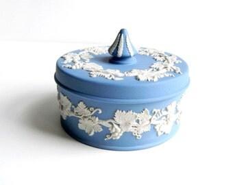 Vintage Blue Wedgwood Lidded Trinket Dish - Includes Original Certificate