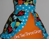 Dinosaur  peekaboo Jumper Dress
