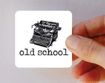 old school typewriter magnet