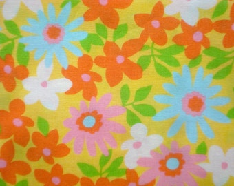 Urban Chiks Dream On Flower Power yellow moda fabric FQ or more