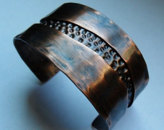 Mens Copper Jewelry, Mens Copper Cuff Bracelet, Womens Copper Jewelry, Womens Copper Cuff Bracelet, Pure Copper Bracelet, Hammered Copper