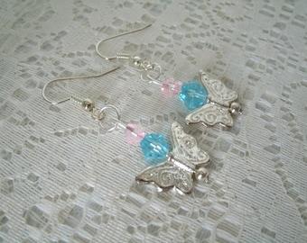 Butterfly Earrings, boho jewelry bohemian jewelry gypsy jewelry hippie jewelry hipster new age rockabilly pin up boho earrings
