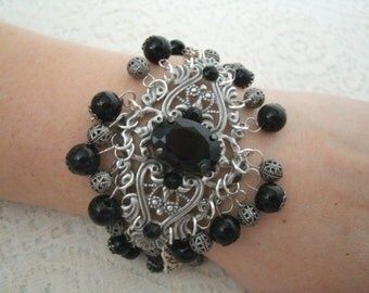Gothic Victorian Bracelet,  gothic jewelry goth jewelry victorian jewelry renaissance edwardian medieval neo victorian art deco art nouveau