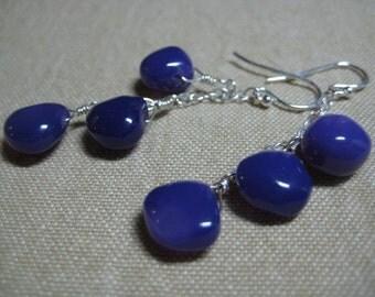 Deep purple dangling earrings