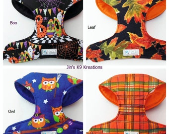 Halloween Fall Comfort Soft Dog Harness - Made to order-