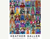 60% Off- Angel Mosaic Virgin of Guadalupe  Art Print Poster by Heather Galler  Mexican Folk Art by Heather Galler (HG132)