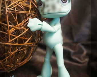 Ribbit the Poison Dart Frog - pale blue - ball joint doll / BJD - Only 1 left!