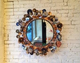vintage Curtis Jere Raindrops Mirror