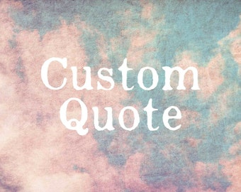 Custom Quote Typography on photograph, sky and clouds, textured