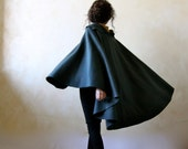 Wool cape, outerwear, medieval cape, wool cloak, winter cape, elf cape, LARP clothing, women clothing, winter clothing, fantasy clothing
