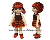 Pukipuki Size Outfit - Dress, Hat, Shoes- for Pukipuki / 11 cm Size Doll