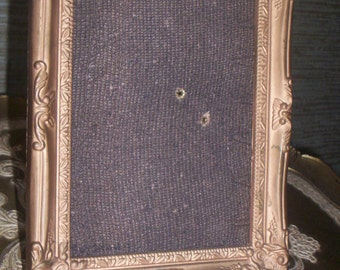 REDUCED Vtg Ornate Baroque Designs Syroco Style Gold Tone Easel Back Photo Picture Frame