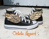 Shoe Wings - OoLaLa Leopard  - for YouR SupeR HerO