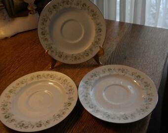 Set of 3 Johann Haviland  Forever Spring Saucers