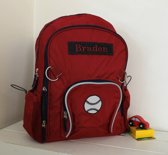 Large Backpack With Monogram Pottery Barn Large Size