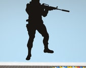 COOL Military Soldier Army Men ----Removable Graphic Art wall decals stickers home decor