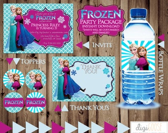 50% off -- INSTANT Download -- FROZEN Party Package -- Party Pack -- Printable