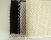 French Netting Fabric, White, Ivory or Black, Wedding, Special Occasion, Crafts, DIY birdcage bridal veil