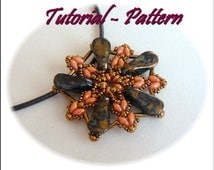 Beading pattern of beaded pendant Lengo - PDF instructions, step by step