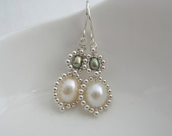 Double Pearl Beaded Drops