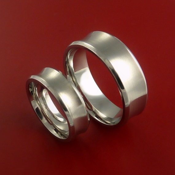 Cobalt Chrome Matching Wedding Bands Engagement Rings Made To