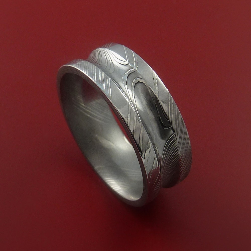 Damascus Steel Ring Wedding Band Genuine Unique Style
