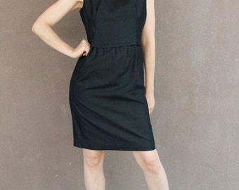 Vintage 60's Little Black Dress AUDREY HEPBURN