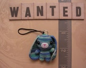 Crochet Litte Rabbit cell phone charm - 11