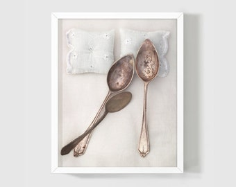 Family of spoons- Spooning No.5 Fine Art Photography Poster 8x10 Bedroom, Anniversary Gift. Original Concept by PetekDesign