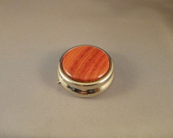 Medication Holder - Mini Pill Box - Purse - Redheart Wood