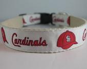 Hemp dog collar - St Louis Cardinals