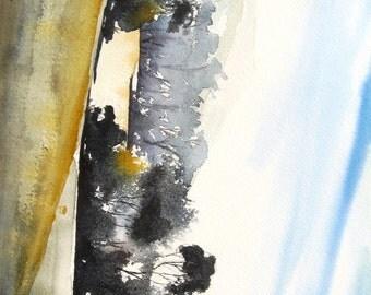 Autumn Meadows - Original Watercolor Painting
