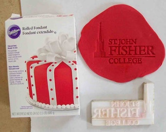 Custom Fondant or Gum Paste Stamp - up to 1.5""