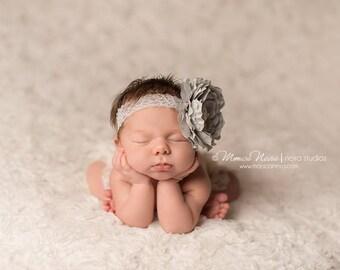 Newborn headband, baby headband, girl headband, newborn photography prop, vintage headband