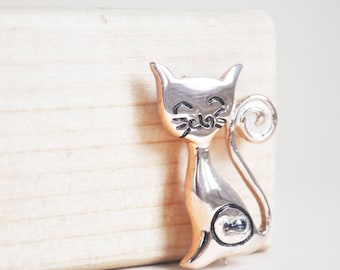 happy cat brooch - free shipping