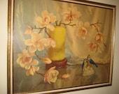 Vintage Retro SHABBY PARIS COUNTRY Chic Art Framed 32 x 26