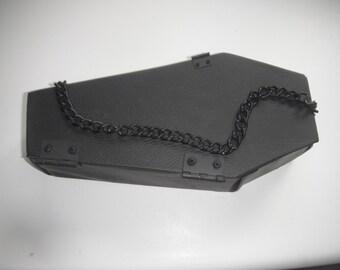 Black Chain Coffin Purse