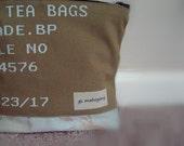 Zipper Pouch Beige Ivory Lined Bag
