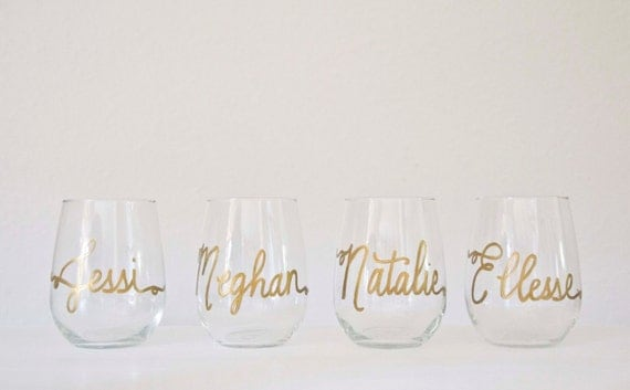 Personalized Stemless Glass Wine Glasses On Sale