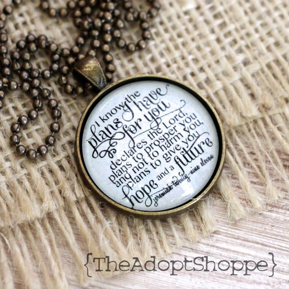 hope and future Jeremiah 29:11 necklace