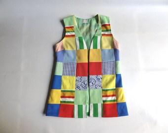 Funky Patch Vest size Medium