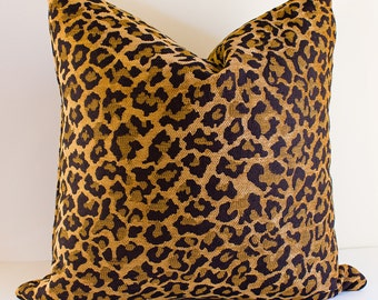 Chenille Leopard Pillow Covers- Select size in drop down menu